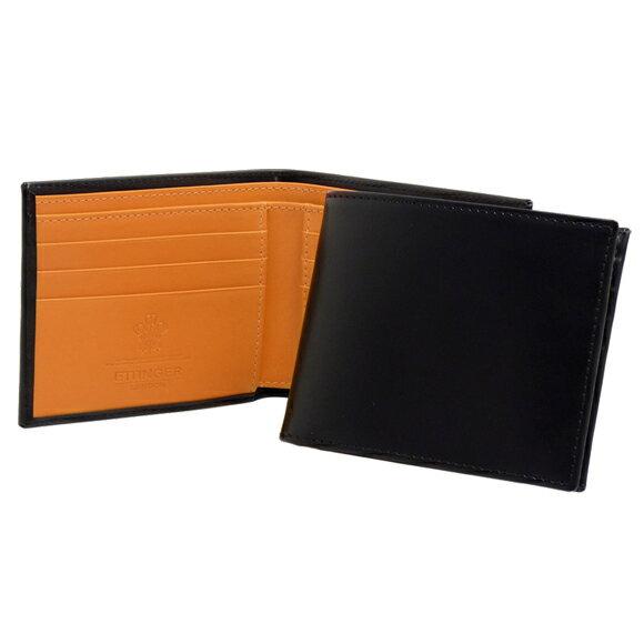 エッティンガー ETTINGER 財布 メンズ 二つ折り財布 ブラック ブライドルレザー LEATHER BILLFOLD WITH 6C/C BH030CJR BLACK BRIDLE HIDE COLLECTION
