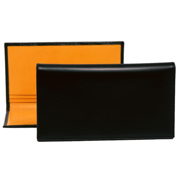 エッティンガー ETTINGER 財布 メンズ 長財布 ブラック COAT WALLET WITH 8 C/C BH806AJR BLACK BRIDLE HIDE COLLECTION