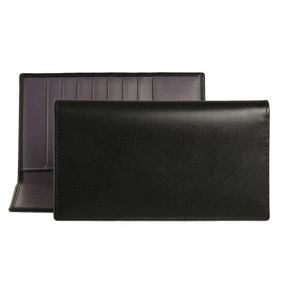 エッティンガー ETTINGER 財布 メンズ 長財布 ブラック COAT WALLET WITH 8 C/C ST806AJR BLACK/PURPLE PURPLE/STERLING COLLECTION