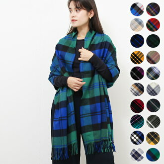 Johnstons of Elgin JOHNSTONS cashmere large scarf CASHMERE TARTAN STOLES WA000056 10 colors