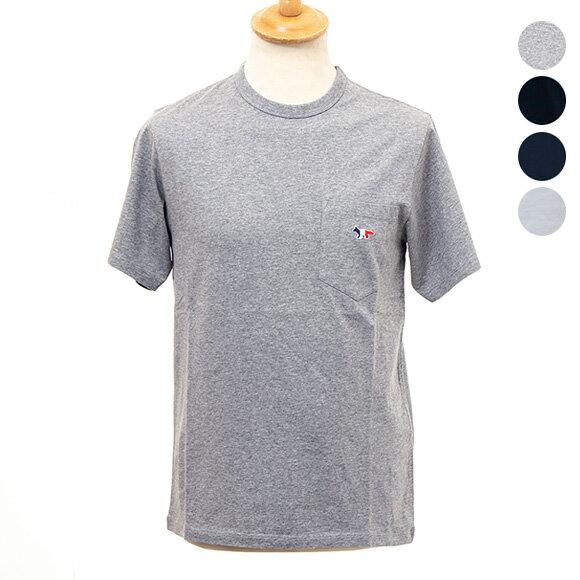 メゾン キツネ MAISON KITSUNE メンズ 半袖Tシャツ TEE SHIRT TRICOLOR FOX PATCH M704 [全4色]