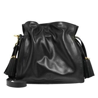 Loewe /LOEWE bags FLAMENCO 30 2WAY shoulder / handbag black 380 82 E16 1100 BLACK LOEWE NAPA filter even mildew LOEWE
