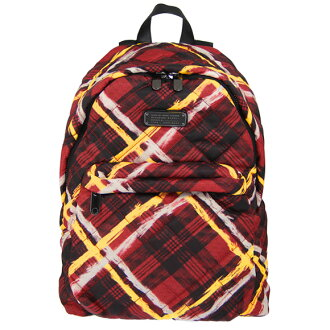 Marc by Marc Jacobs MARC BY MARC JACOBS women's backpack Ruby Red multi CROSBY QUILT BACKPACK [Crosby kilt backpack] M0007274 699 RUBY RED MULTI