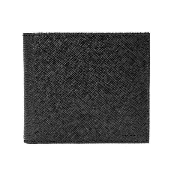 プラダ PRADA メンズ 二つ折り財布(小銭入れ付) ブラック PORTAF.ORIZZONTALE 2MO738 053 F0002 NERO