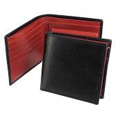 【エントリーでポイント10倍】ホワイトハウスコックス Whitehouse Cox 財布 二つ折り財布(小銭入れ付) ブラック/レッド COIN WALLET S7532/SR1563 BLACK/RED (JP)