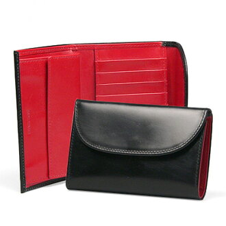 Whitehouse Cox / White House Cox SR1112 BLACK/RED tri-fold wallet