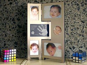 シルバーフォトスタンド 赤ちゃん メモリアルフォトフレーム