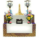 新盆祭壇セット 木製 二段 C 【お盆セット】【盆棚セット】