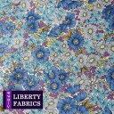 【LIBERTY】リバティファブリック《生地》Gloria Flowers/鮮やかなブルー系の花柄生地/DC10480XE/「liberty13」(10cm単位)