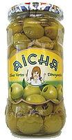 モロッコ産 『グリーンオリーブ(種抜)』 350g(内容量 160g)Green Olive Pitted / Olive Verte Denoyautee (Aicha, Morocco) (前菜 おつまみ ワインのアテ テーブルオリーブ)