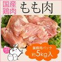 鶏肉 紀州うめどり もも肉 5kg (1kg x 5p) 業務用 モモ肉 鳥肉