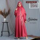 ムスリムロングドレス+ヒジャブJASMINE CLOTHING DRESS WOMAN BRIEF STYLE ISLAM MUSLIM LONG DRESS ABAYA MUSLIM INDONESIA STYLE