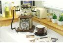 アンティーク電話機85BA-Rヨーロッパ風 装飾電話機 プッシュ