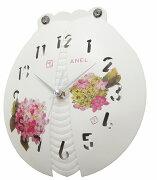 電波掛け時計テントウムシ掛け時計white delight アンテ-ク壁掛け時計 おしゃれ 掛時計 北欧 時計 インテリア
