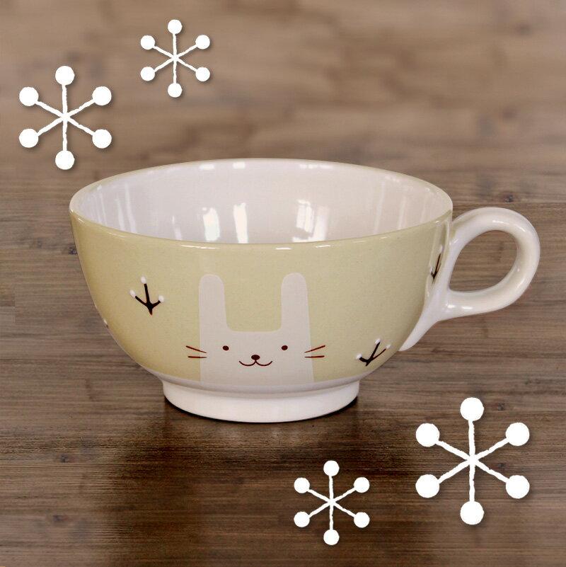 出産祝 内祝 誕生日 お食い初め 赤ちゃん プレゼント 日本製 名入れ無料♪ 白いなかまたち〜ウサ〜ミニスープカップ