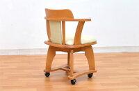 アウトレットダイニングチェア肘付き回転肘付キャスター付きクッション1脚kureo-360ライトブラウンミドルブラウン木製チェアダイニング椅子キャスターコンパクトスリムアーム2色対応回転椅子回転イス【r】161
