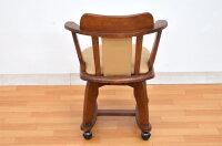 アウトレットダイニングチェアkureo-ch-360肘付き回転肘付キャスター付きクッション1脚ライトブラウンミドルブラウン木製チェアダイニング椅子キャスターコンパクトスリムアーム2色対応回転椅子回転イス【r】161