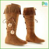 インディアン ブーツ グッズ ポカホンタス インディアンの大人用 ブーツ 靴