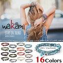 【国内発送 送料無料】 Wakami ワカミ ブレスレット Life Is…Wrap Bracelet アンクレット メンズ レディース ペア ビーズ パーツ アクセサリー