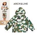 【30%OFF】【SALE】ARCH&LINE(アーチ&ライン)カモフラ柄ポケッタブルパーカー-1904【115〜150cm】【メール便OK】