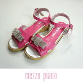 【30%OFF】【SALE】mezzo piano(メゾピアノ)キラキラリボンサンダル-2404【19-22cm】【宅配便】