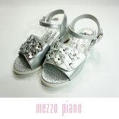 【30%OFF】【SALE】mezzo piano(メゾピアノ)お花ベルクロサンダル-2405【19-22cm】【宅配便】