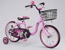ミニーマウス ラブデコ リボン 16インチ<完成品>★今なら、自転車カバープレゼント!!【クレジットOK!】アイデス子供用自転車