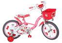 エムアンドエム ハローキティ チェリー 16インチ<完成品>★今なら自転車カバープレゼント!!【包装不可】子供用自転車 カジキリ可能!