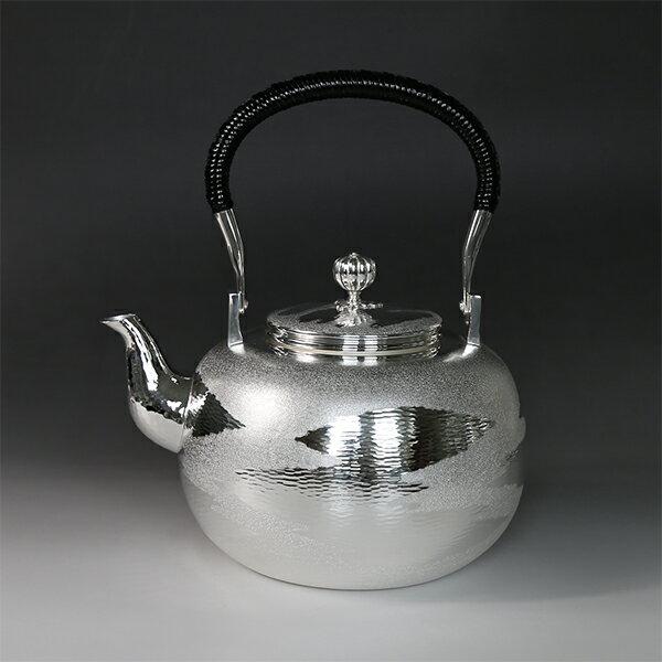 銀川堂 純銀・湯沸し 1800cc 瑞雲模様 /銀瓶 茶器 茶道具/母の日