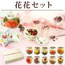【花花セット】ギフト プレゼント カーネーション 花茶 工芸茶10種 八宝茶1個 バラ茶1個 フラワーギフト ジャスミン茶