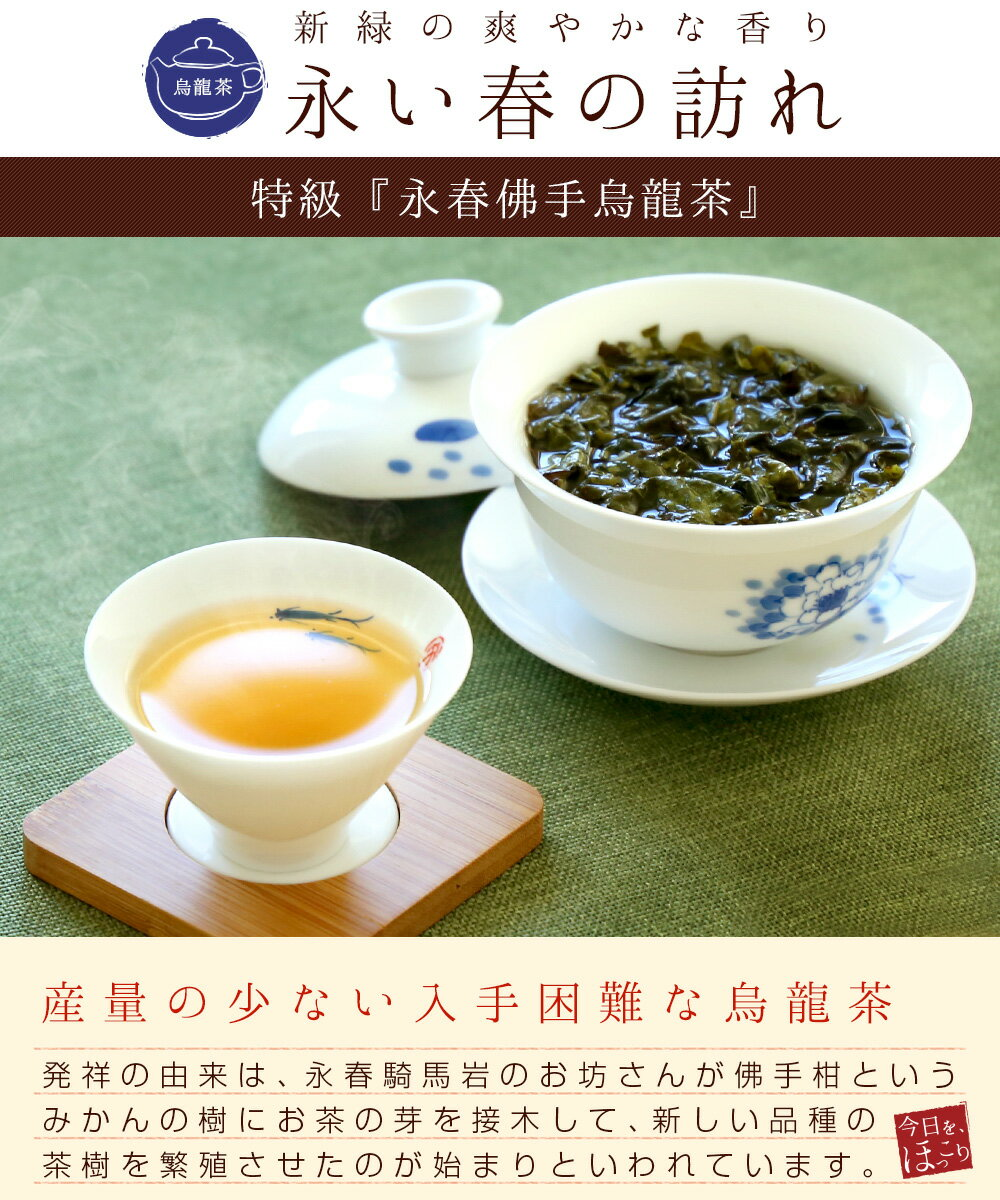 烏龍茶/永春佛手烏龍茶【特級】50g メール便...の紹介画像2
