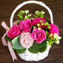 ソープフラワー 花かご ギフト ローズ