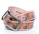 C12804 メンズ タン アメリカン フリー レザー ウエスタンベルト (サイズ:32〜46インチ) ジャスティン 【JUSTIN】