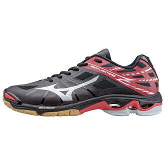 美津濃波閃電 Z 黑色和白色和紅色 V1GA150002 20%的折扣! 排球鞋美津濃 2014 Arc'Teryx