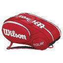 ウイルソン ラケットバッグ ミニツアー 6PK レッド(ジュニア用) WRZ642506 バドミントン テニス ラケットスポーツラケットケース バッグ 収納Wilson 2015年春夏モデル