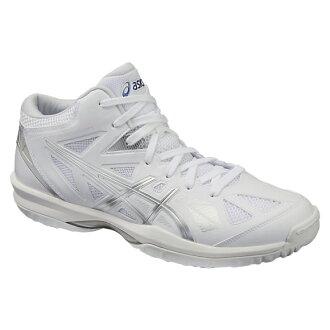 專用積體電路 GELHOOP V 8 圭爾夫 V8 白色和銀色 TBF330 0193 籃球鞋 bash 籃子籃球隊伍 ASIC 2016 年春/夏