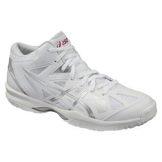 專用積體電路 ELHOOP V 8 全圭爾夫了 V8 寬白色 x 銀 TBF331 0193 籃球鞋 bash 寬籃子籃球隊 ASIC 2016 年春/夏