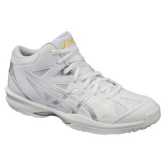 專用積體電路 GELHOOP V 8 苗條了 V8-超薄白色 x 銀 TBF332 0193 籃球鞋 bash 苗條籃子籃球隊 ASIC 在 2016 年,春、 夏圭爾夫大學