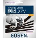 【取寄品】 ゴーセン剛戦X7V GOSEN X7V SS507テニス ラケット 軟式 GOSEN ゆうパケット対応