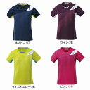 ゴーセン レディースゲームシャツ T1613 バドミントン テニス シャツ 半袖 レディース ウィメンズ GOSEN2016年秋冬モデル