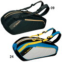 【在庫品】 ミズノラケットバッグ6本入れ 63JD6004バドミントン テニス ラケット 収納MIZUNO 2016SS