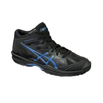專用積體電路 GELHOOP V 8 圭爾夫 V8 黑 / 皇家藍 TBF330-9042 籃球鞋 bash 籃子籃球隊 ASIC 在 2016 年,春天夏天模型限量版顏色