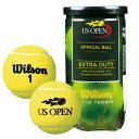 ウイルソン 硬式テニスボール USオープン・エクストラ・デューティ(US Open Extra Duty)wrt1000j 2球入 1缶 テニス ボール