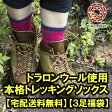 【宅配送料無料】【3足福袋】ドラロンウール使用!本格トレッキングソックス ウール 靴下 くつした