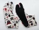 武具(白地) 4枚コハゼ 柄足袋 和柄 日本製 手づくり