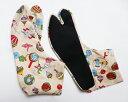 日本玩具(ベージュ) 4枚コハゼ 柄足袋 和柄 日本製 手づくり