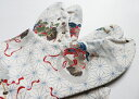 麻の葉/大柄(紺)4枚コハゼ 柄足袋 和柄 日本製 手づくり