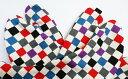 【25.0cm〜】麻の葉×ストライプ(黒/白) 4枚コハゼ 柄足袋 和柄 日本製 手づくり
