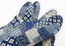 【25.0cm〜】市松(紺) 4枚コハゼ 柄足袋 男性 市松柄 和柄 日本製 手づくり