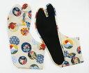 めでためでた 4枚コハゼ 柄足袋 和柄 日本製 手づくり